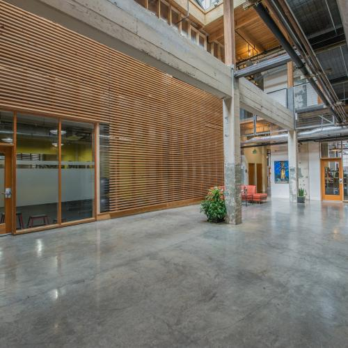Historic creative office space with renovations done in 2007, adding modern touches.