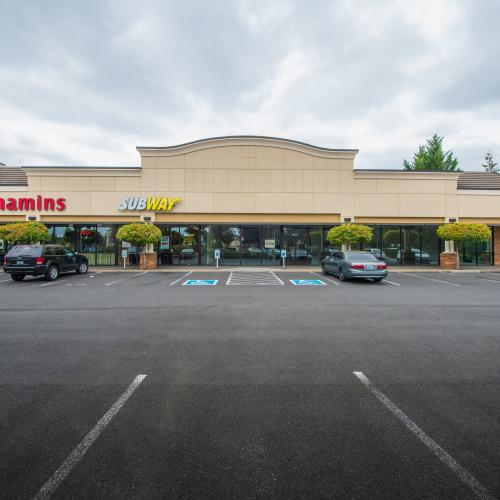 Restaurant space for lease at anchored retail center in Vancouver.